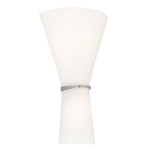 Toby 2 Light Matt Opal Wall Sconce