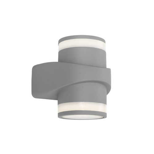 Yuri 2 Light Exterior Wall Light - Silver