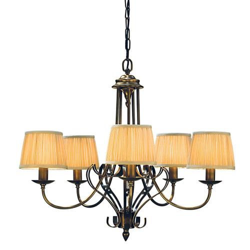 Zoya 5 Light Brass Chandelier by Viore Design