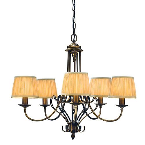 Zoya 5 Light Brass Chandelier by Viore Design