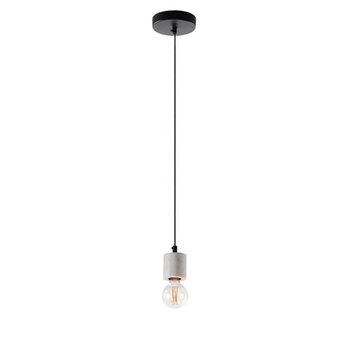 Marble Base Cylinder Pendant Light - White