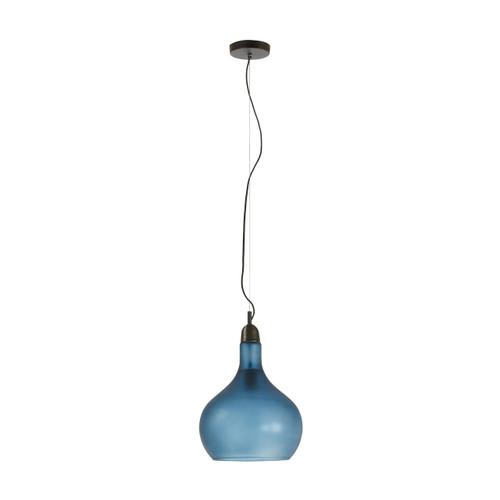 Plump Glass Pendant Light - Blue