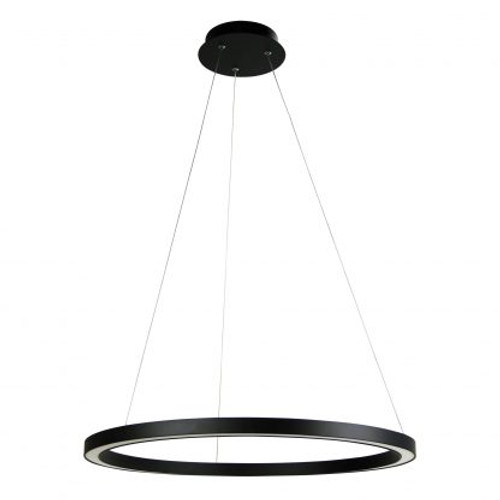 Nebula Modern LED Halo Pendant Light Black - 60cm