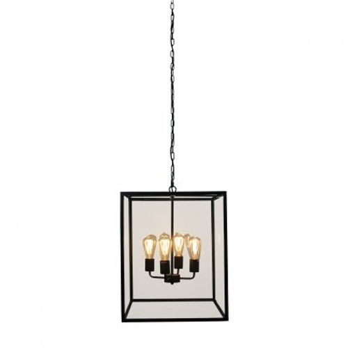 Hampton Classic Metal Glass Pendant Light