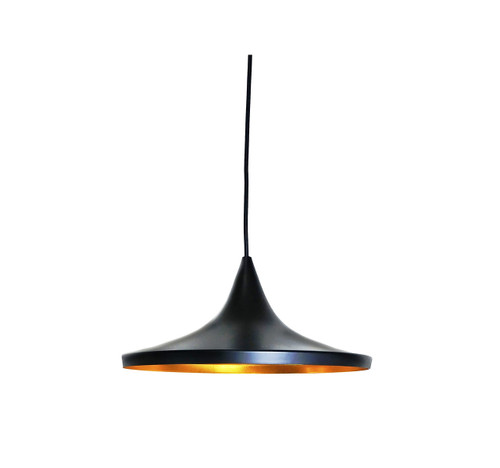 Urban Wide Pendant Light - Black