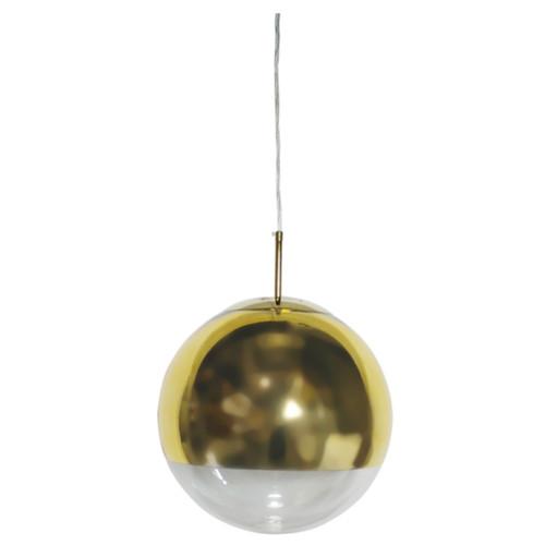 Helmet Gold Ball Pendant Light