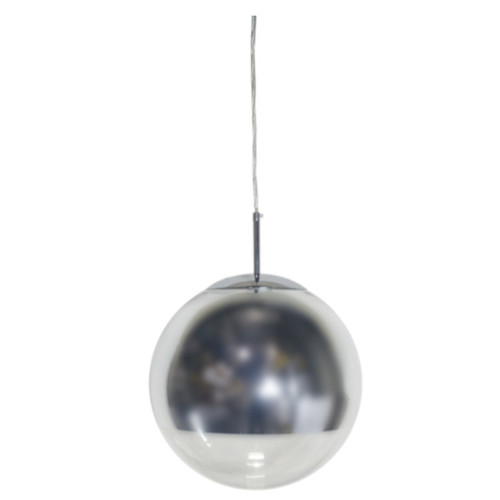 Helmet Chrome Ball Pendant Light