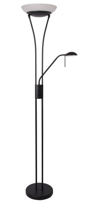 Reed LED Mother & Child Floor Lamp - Black