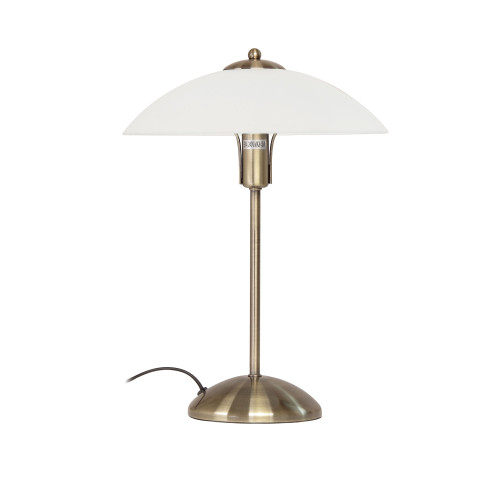 Contemporary Disc Table Lamp - Antique Brass