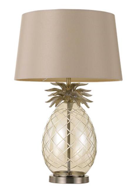Ananas Metal & Glass Base Table Lamp