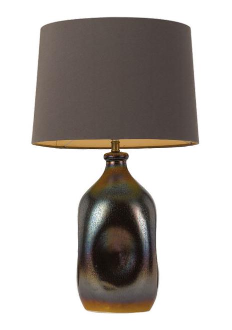 Anaya Ceramic Fabric Table Lamp