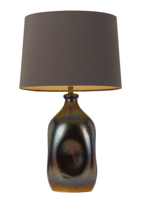 Anaya Ceramic Fabric Table Lamp