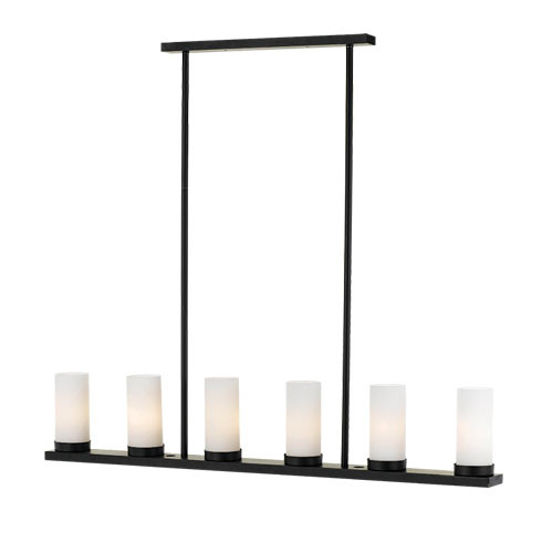 Candle Island 6 Light Pendant Light - Black