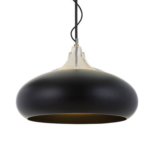 Round Drum Pendant Light - Black