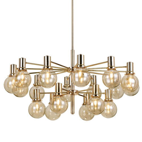 Escobar Gold Amber 10 Light Pendant Chandelier