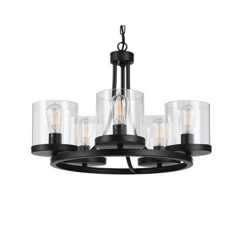 Gem Round 5 Light Pendant Chandelier - Small
