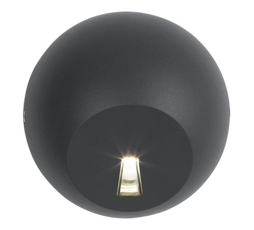 Round Bullet Black Exterior Wall Lamp