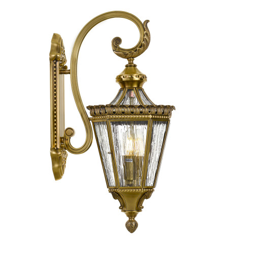 Old Guard Antique Brass Exterior Wall Light