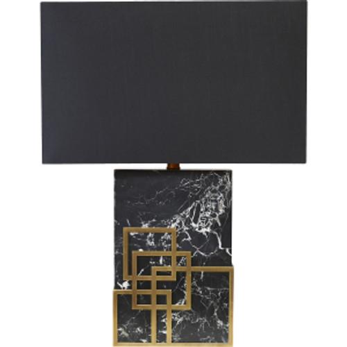 Hearst Balck Greco-Roman Table Lamp