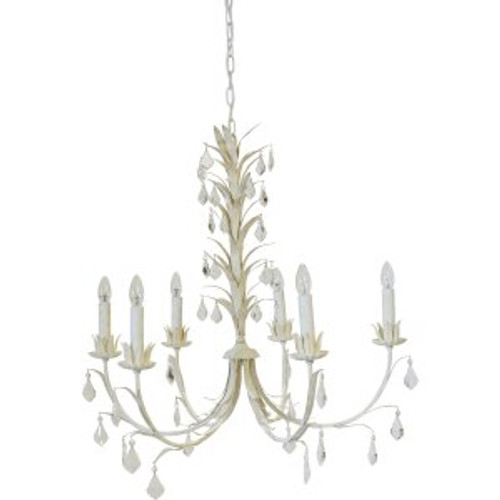 Ophelia 6 Arm Coastal Chandelier