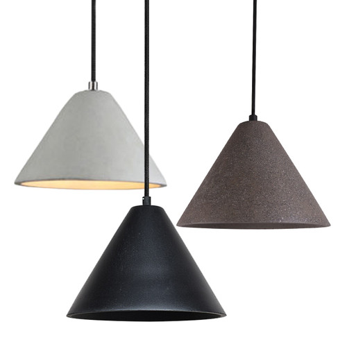 Lucinda Cone Concrete Pendant Light