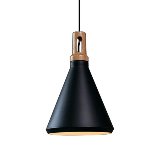 Funnel Contemporary Pendant Light - Black