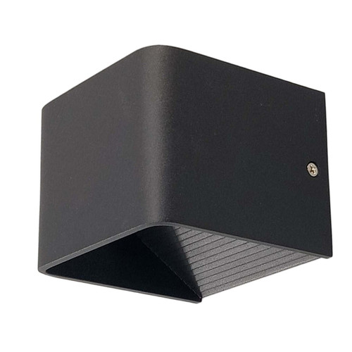 Small, Black - Cuba Modern Exterior Wall Light