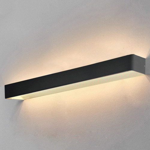 Extra Large, Black - Cuba Modern Exterior Wall Light
