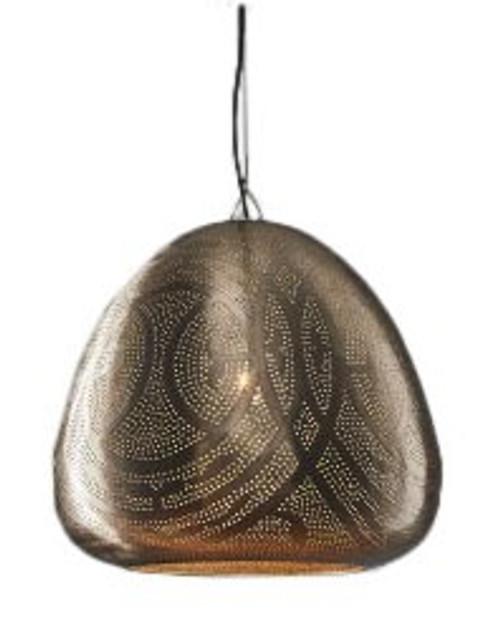 Sally Moroccan Dome Nickel Pendant Lamp
