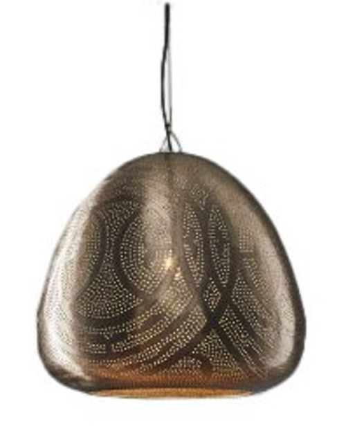 Sally Moroccan Dome Nickel Pendant Lamp