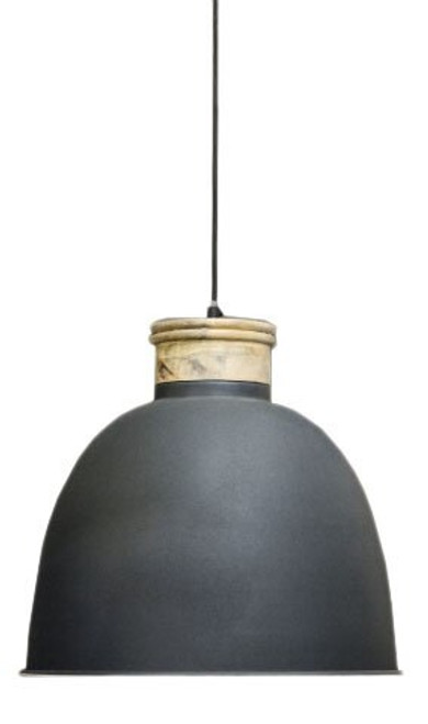 Quinton Wooden Top Bell Pendant Light