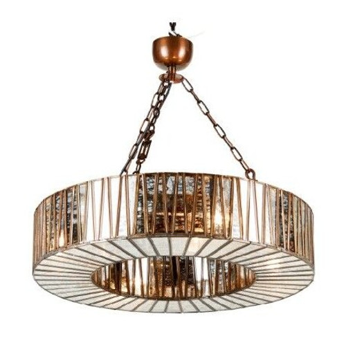 Shelly Glass Ring Chandelier