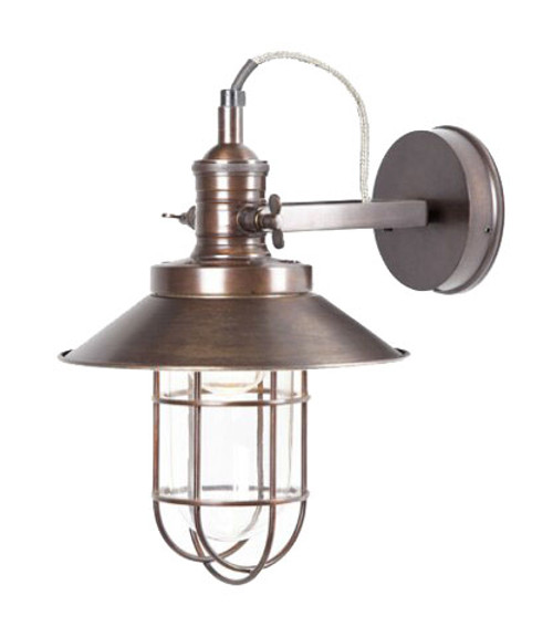 Maine Caged Metal Wall Sconce - Copper