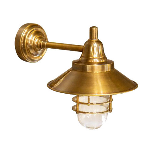Clark Indoor/Outdoor Wall Lamp - Brass