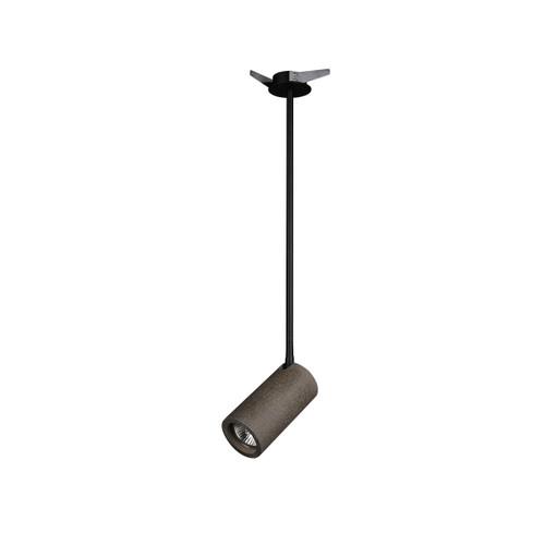 Rotatable Concrete Spotlight Ceiling Light - Black with Canopy