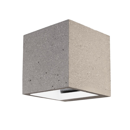 Cubic Square Concrete Wall Sconce