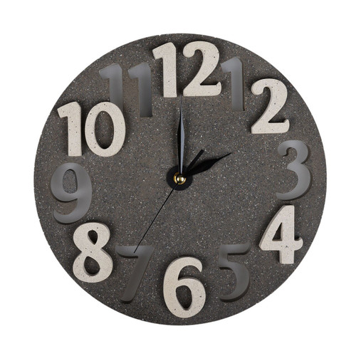 Concrete Clock Wall Light - Black