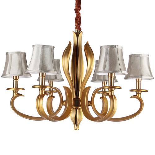 Vintage 5 Light Golden Chandelier