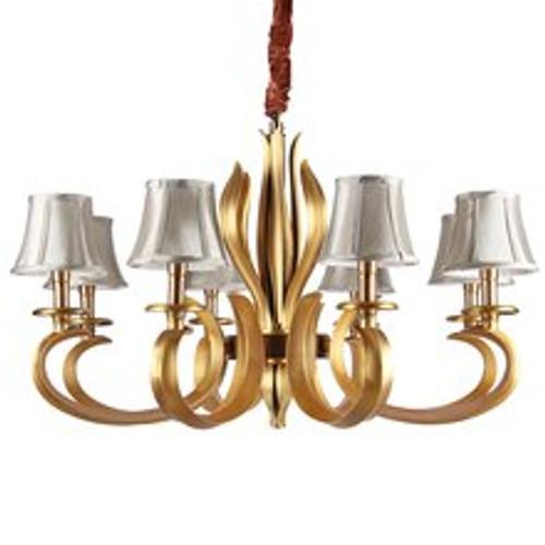 Luxury 8 Light Brass Chandelier