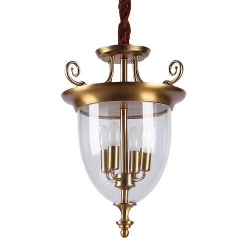 Mona Retro Luxury 4 Light Glass Pendant Light