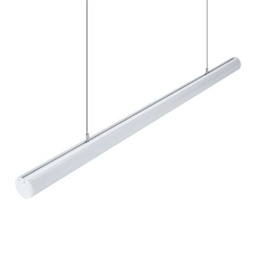 Pipe Linear White Pendant Light