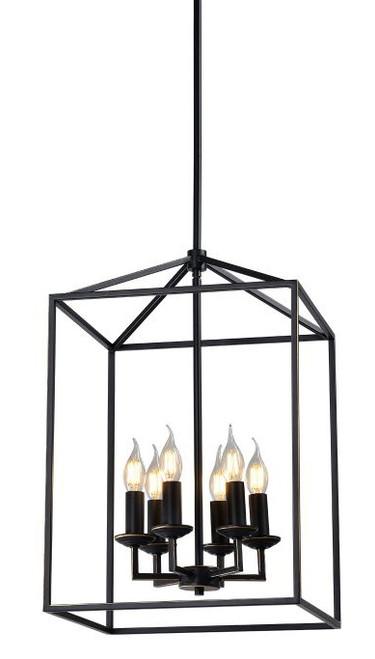 Franklin Industrial Caged 6 Light Pendant Light