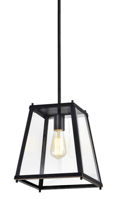 Lucas 1 Light Clear Bevelled Glass Pendant Light