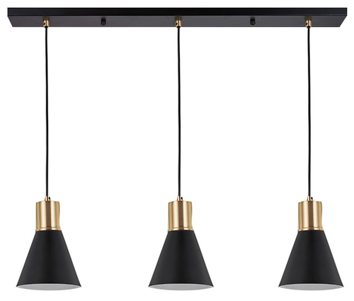 Como Cone 3 light Bar Pendant Light - Brass
