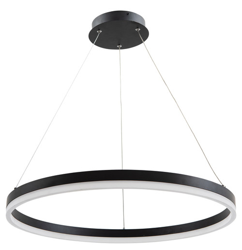 Cronus Modern LED Halo Pendant Black