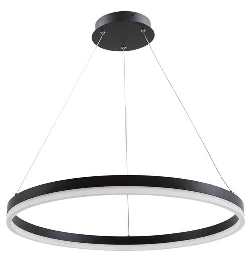 Cronus Modern LED Halo Pendant Black
