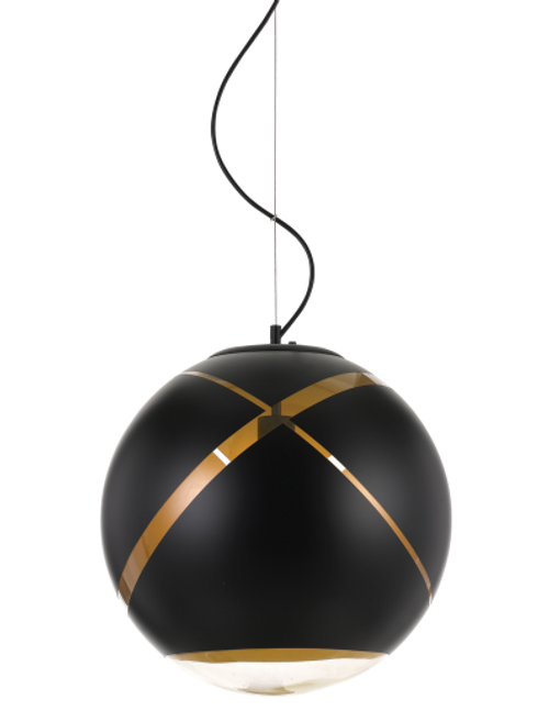 Matrix Black Gold Ball Pendant Light