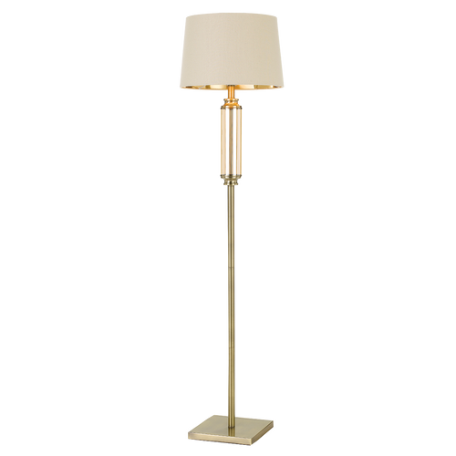 Dorcel Floor Lamp Antique Brass