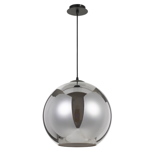 Bondy Black Smoke Pendant Light  Large