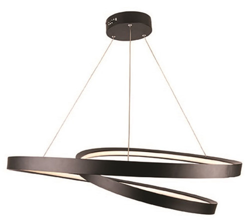 Armstrong Knot LED Pendant Light Matt Black